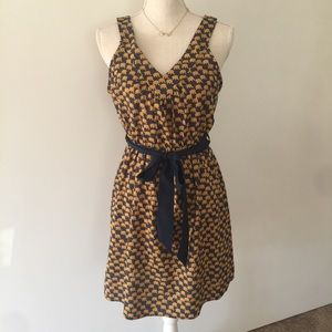 Francesca's collections elephant v-neck dress